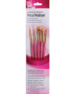 Princeton Real Value Brush Selection Set of Golden Taklon Paint Brushes x 5