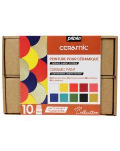 Pebeo Ceramic Collection Set 10 x 45ml & Accessories