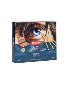 Derwent Lightfast 48 Wooden Box Set
