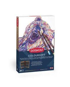 Derwent Coloursoft 24 Wooden Box Set