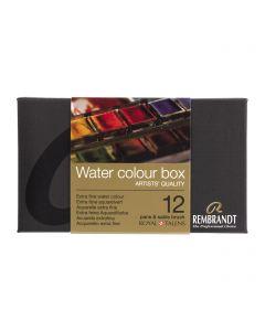 Rembrandt Artists' Quality Water Colour Box 12 Pans & Sable Brush