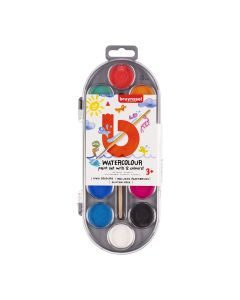Bruynzeel Holland Watercolour Paint Set with 12 Colours