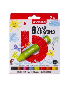 Bruynzeel Holland Wax Crayons Set of 8 Colours