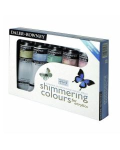 Daler Rowney Acrylic Shimmering Colours Set of 5 x 75ml