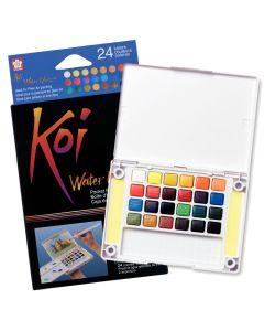 Sakura Koi Watercolours Pocket Field Sketch Box 24 Colours
