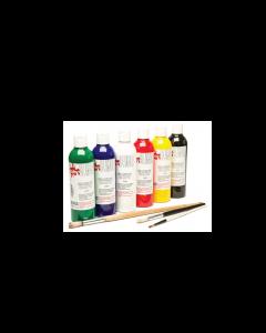 Scola Fabric Paint Assorted Colour Set 6 x 150ml