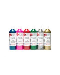 Scola Glitter Paint Assorted Colour Set 6 x 300ml