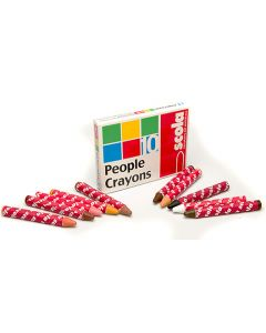 Scola People Crayons Pack of 10