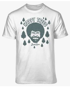 Bob Ross 'Happy Trees' Official Cotton T-Shirts
