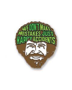 Bob Ross 'Happy Accidents' Enamel Pin Badge