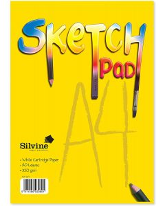 Silvine 20 Sheet White Cartridge Paper Sketch Pad A4