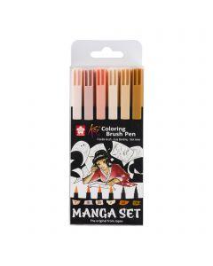 Sakura Koi Coloring Brush Pen Manga 6 Set