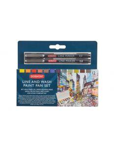 Derwent Line and Wash Paint Pan Set