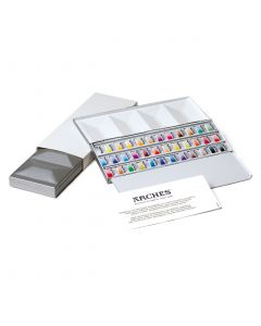 Maimeri Blu Watercolour Half Pans Metal Box Set 36 Colours