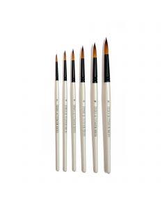 Studio 22 Titanium Series Round Watercolour Brush Set of 6