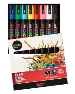 Uni POSCA Markers PC-5M Set of 8 Standard Colours