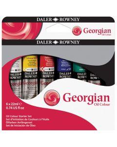 Daler Rowney Georgian Oil Colour Starter Set 6 x 22ml