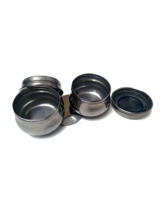 Metal Double Dipper with Lid
