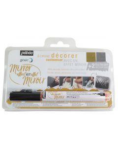 Pebeo Gedeo Mirror Effect Leaves & Glue Gilding Marker Set