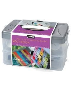 Pebeo Deco Interior Home Furniture Paint Glossy Workbox 10 x 45ml I Art Supplies