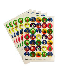 Christmas theme stickers for craft, cardmaking, scrapbooking, envelopes