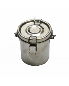 Stainless Steel Brush Washer with Lid & Handle I The Art Shop Skipton