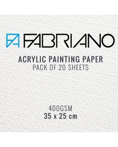 Fabriano Acrylic Painting Paper 400gsm 35 x 25 cm (20 Sheets)