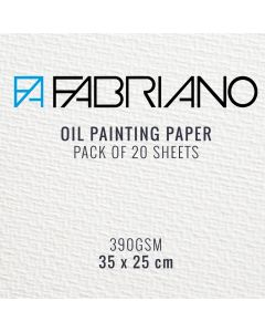 Fabriano Oil Painting Paper 390gsm 35 x 25 cm (20 Sheets)