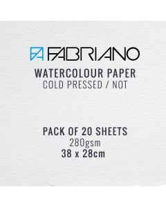 Fabriano Watercolour Paper 280gsm CP / NOT 38 x 28 cm (20 Sheets)