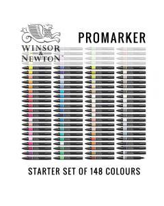 Winsor & Newton Promarker Starter Set of 148 Colours