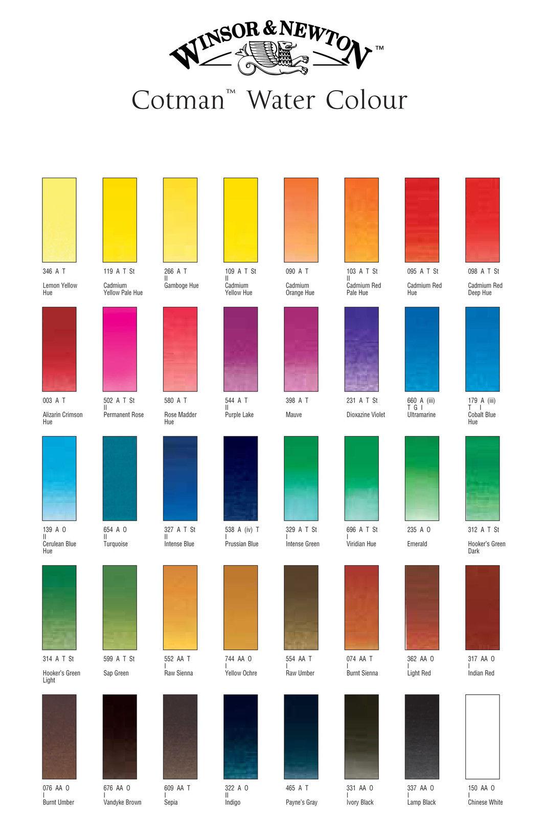 fbe25e4620e1 Winsor   Newton Cotman Water Colours Painting Plus 16 Half Pans   3 ...